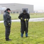 Mastfuß für die Groundplane setzen
